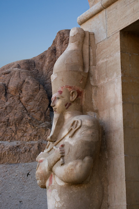 Egyptian temple statue