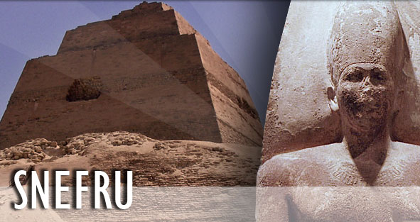 The Meidum Pyramid (Probably of Snefru) in Egypt